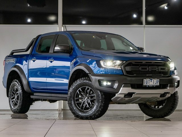 Used Ford Ranger PX MkIII 2019.75MY Raptor Deer Park, 2019 Ford Ranger PX MkIII 2019.75MY Raptor Blue 10 Speed Sports Automatic Double Cab Pick Up