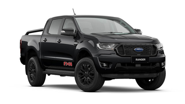 New Ford Ranger PX MkIII 2021.75MY FX4 Cardiff, 2021 Ford Ranger PX MkIII 2021.75MY FX4 Shadow Black 6 Speed Sports Automatic Double Cab Pick Up