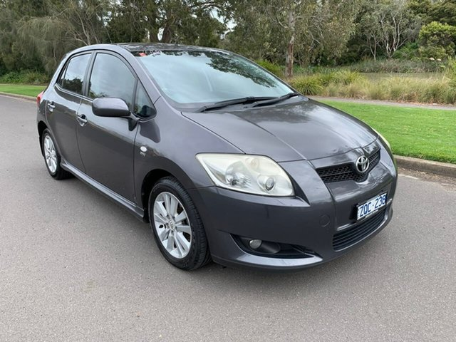 Used Toyota Corolla ZRE152R Levin SX Geelong, 2008 Toyota Corolla ZRE152R Levin SX Grey 4 Speed Automatic Hatchback
