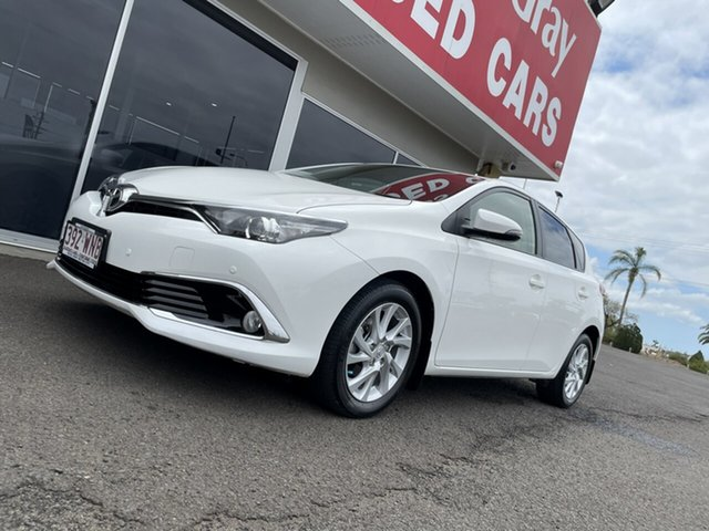 Used Toyota Corolla ZRE182R Ascent S-CVT Bundaberg, 2016 Toyota Corolla ZRE182R Ascent S-CVT White 7 Speed Constant Variable Hatchback