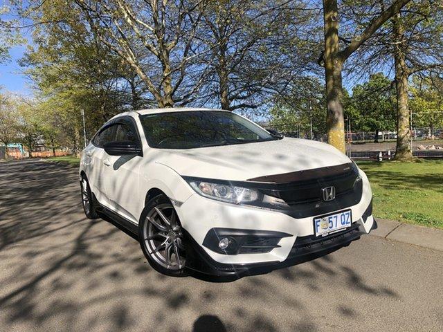 Used Honda Civic 10th Gen MY16 VTi-L Launceston, 2017 Honda Civic 10th Gen MY16 VTi-L White 1 Speed Constant Variable Sedan
