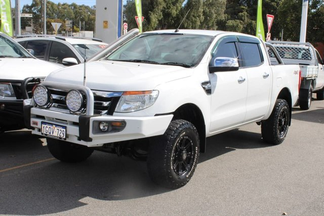 Used Ford Ranger PX XLT Double Cab Midland, 2014 Ford Ranger PX XLT Double Cab White 6 Speed Sports Automatic Utility