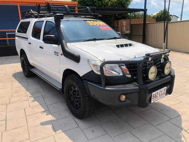 Used Toyota Hilux KUN26R MY14 SR Double Cab Mundingburra, 2015 Toyota Hilux KUN26R MY14 SR Double Cab White 5 Speed Automatic Utility