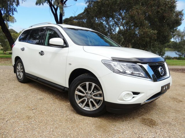 Used Nissan Pathfinder R52 MY15 ST X-tronic 2WD Morphett Vale, 2015 Nissan Pathfinder R52 MY15 ST X-tronic 2WD White 1 Speed Constant Variable Wagon