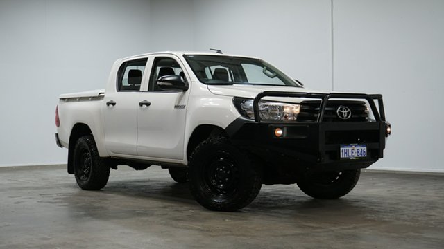 Used Toyota Hilux GUN125R Workmate Double Cab Welshpool, 2017 Toyota Hilux GUN125R Workmate Double Cab White 6 Speed Sports Automatic Utility