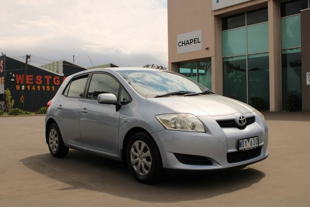 Used Toyota Corolla ZRE152R Ascent West Footscray, 2007 Toyota Corolla ZRE152R Ascent Blue 4 Speed Automatic Hatchback