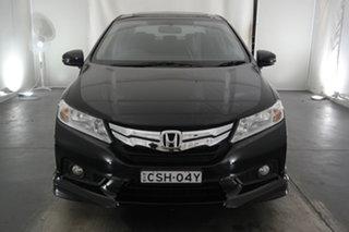 2014 Honda City GM MY14 VTi-L Black 7 Speed Constant Variable Sedan.
