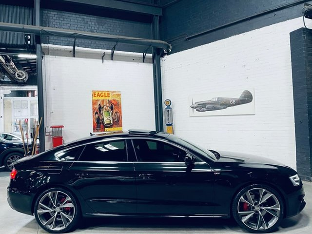 Used Audi A5 8T MY14 Sportback S Tronic Quattro Port Melbourne, 2013 Audi A5 8T MY14 Sportback S Tronic Quattro Black 7 Speed Sports Automatic Dual Clutch Hatchback