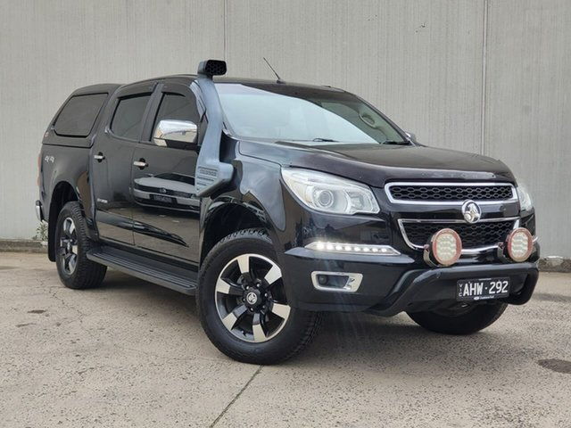 Used Holden Colorado RG MY16 Storm Crew Cab Oakleigh, 2016 Holden Colorado RG MY16 Storm Crew Cab Black 6 Speed Sports Automatic Utility
