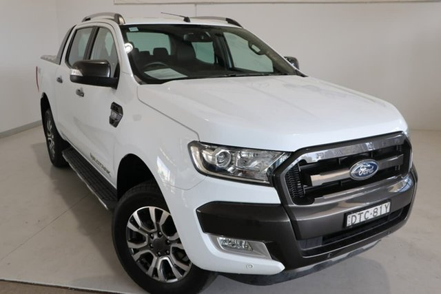 Used Ford Ranger PX MkII 2018.00MY Wildtrak Double Cab Wagga Wagga, 2018 Ford Ranger PX MkII 2018.00MY Wildtrak Double Cab White 6 Speed Sports Automatic Utility