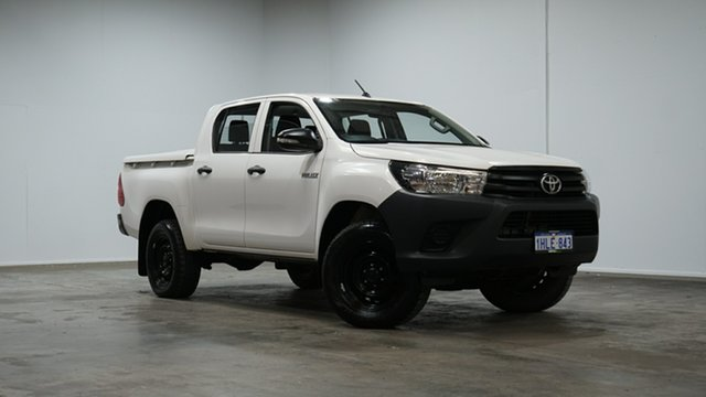 Used Toyota Hilux GUN125R Workmate Double Cab Welshpool, 2015 Toyota Hilux GUN125R Workmate Double Cab White 6 Speed Sports Automatic Utility