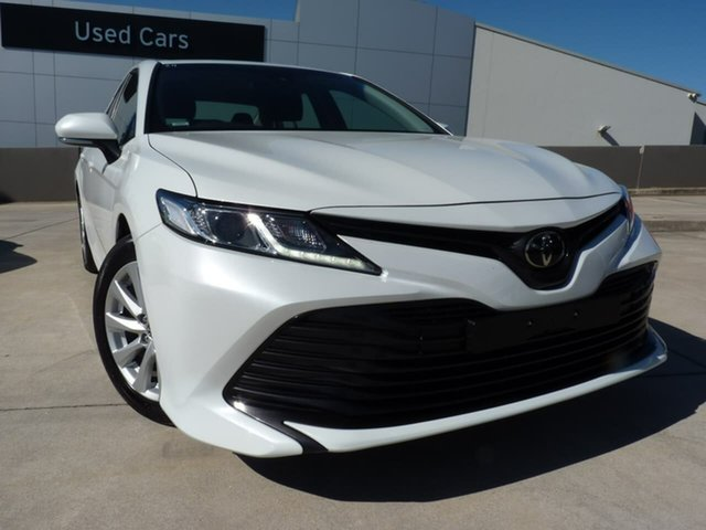 Pre-Owned Toyota Camry ASV70R Ascent Blacktown, 2019 Toyota Camry ASV70R Ascent Frosted White 6 Speed Sports Automatic Sedan