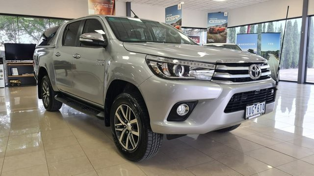 Pre-Owned Toyota Hilux GUN126R SR5 Double Cab Wonthaggi, 2017 Toyota Hilux GUN126R SR5 Double Cab Silver 6 Speed Manual Utility