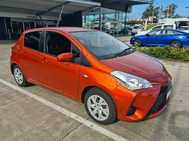 Used Toyota Yaris NCP130R Ascent Yamanto, 2018 Toyota Yaris NCP130R Ascent Orange 4 Speed Automatic Hatchback