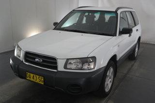 2004 Subaru Forester 79V MY04 X AWD White 5 Speed Manual Wagon.