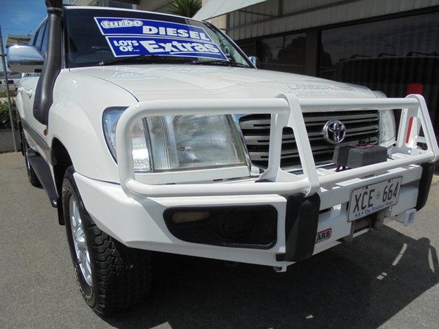 Used Toyota Landcruiser HDJ100R Sahara Edwardstown, 2004 Toyota Landcruiser HDJ100R Sahara White 5 Speed Automatic Wagon