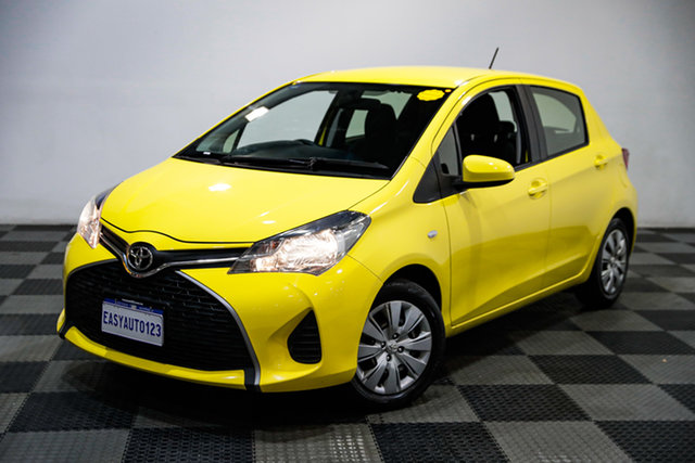 Used Toyota Yaris NCP130R Ascent Edgewater, 2015 Toyota Yaris NCP130R Ascent Yellow 4 Speed Automatic Hatchback