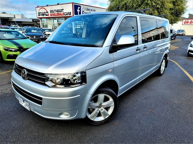 Used Volkswagen Caravelle T5 MY13 TDI340 LWB DSG Seaford, 2013 Volkswagen Caravelle T5 MY13 TDI340 LWB DSG Silver 7 Speed Sports Automatic Dual Clutch Wagon
