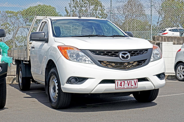 Used Mazda BT-50 UP0YD1 XT 4x2 Ebbw Vale, 2015 Mazda BT-50 UP0YD1 XT 4x2 White 6 Speed Manual Cab Chassis
