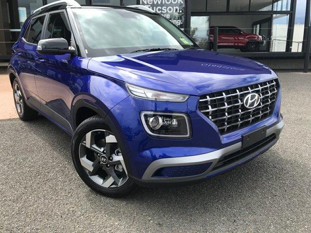 New Hyundai Venue QX.V3 MY21 Elite Gladstone, 2021 Hyundai Venue QX.V3 MY21 Elite Blue 6 Speed Automatic Wagon