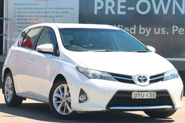 Pre-Owned Toyota Corolla ZRE182R Ascent Sport S-CVT Guildford, 2013 Toyota Corolla ZRE182R Ascent Sport S-CVT Glacier White 7 Speed Constant Variable Hatchback