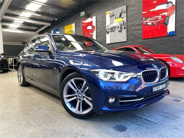 Used BMW 3 Series F30 LCI 318i Sport Line Glebe, 2016 BMW 3 Series F30 LCI 318i Sport Line Blue Sports Automatic Sedan