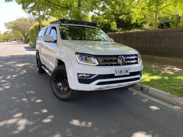 Used Volkswagen Amarok 2H MY18 TDI550 4MOTION Perm Highline Hawthorn, 2018 Volkswagen Amarok 2H MY18 TDI550 4MOTION Perm Highline White 8 Speed Automatic Utility