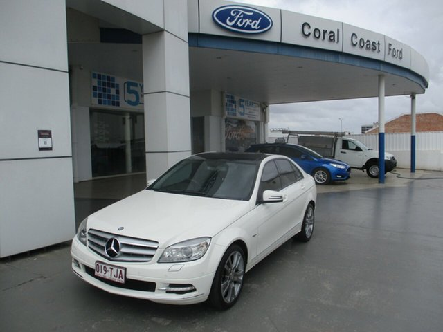 Used Mercedes-Benz C250 W204 MY10 Upgrade CGI Avantgarde Bundaberg, 2011 Mercedes-Benz C250 W204 MY10 Upgrade CGI Avantgarde White 5 Speed Automatic Tipshift Wagon