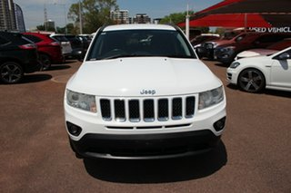 2013 Jeep Compass MK MY13 Limited CVT Auto Stick White Nova 6 Speed Automatic Wagon.