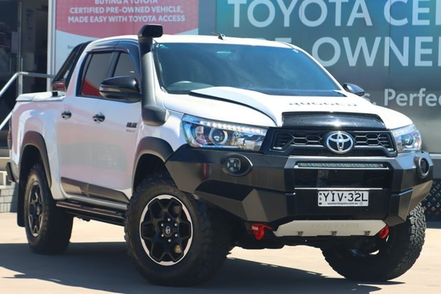 Pre-Owned Toyota Hilux GUN126R 4x4 Guildford, 2018 Toyota Hilux GUN126R 4x4 Crystal Pearl 6 Speed Automatic Dual Cab