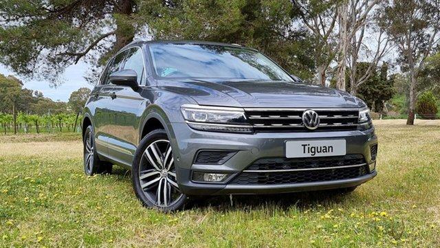 Used Volkswagen Tiguan 5N MY19.5 162TSI DSG 4MOTION Highline Nuriootpa, 2019 Volkswagen Tiguan 5N MY19.5 162TSI DSG 4MOTION Highline Indium Grey 7 Speed