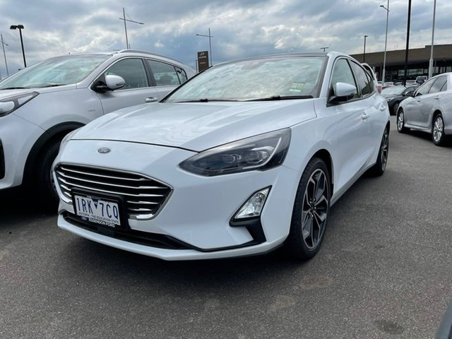 Used Ford Focus SA 2020.25MY Titanium Essendon Fields, 2019 Ford Focus SA 2020.25MY Titanium White 8 Speed Automatic Hatchback