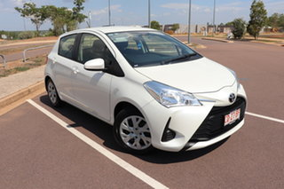 2018 Toyota Yaris NCP130R Ascent Crystal Pearl 4 Speed Automatic Hatchback.