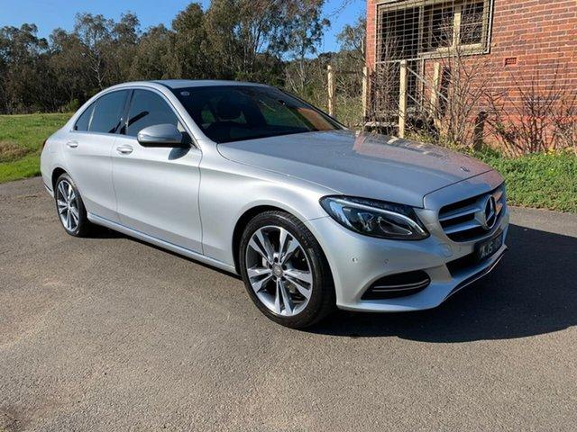 Used Mercedes-Benz C-Class W205 C200 Geelong, 2015 Mercedes-Benz C-Class W205 C200 Silver Sports Automatic Sedan