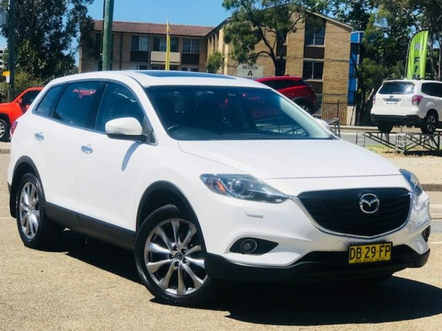 Used Mazda CX-9 TB10A5 Grand Touring Activematic AWD Liverpool, 2015 Mazda CX-9 TB10A5 Grand Touring Activematic AWD White 6 Speed Sports Automatic Wagon