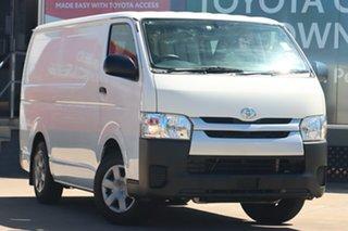 2017 Toyota HiAce TRH201R LWB French Vanilla 5 Speed Manual Van.