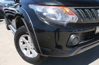 2016 Mitsubishi Triton MQ MY16 GLX+ Double Cab Black 5 Speed Sports Automatic Utility.