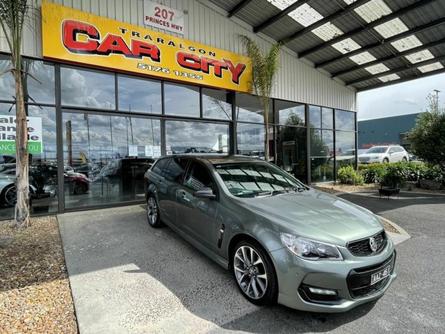 Used Holden Commodore Vfii MY16 SV6 Black Edition Traralgon, 2016 Holden Commodore Vfii MY16 SV6 Black Edition Grey 6 Speed Automatic Sportswagon
