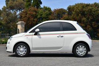 2014 Fiat 500 Series 1 Pop Dualogic White 5 Speed Sports Automatic Single Clutch Hatchback