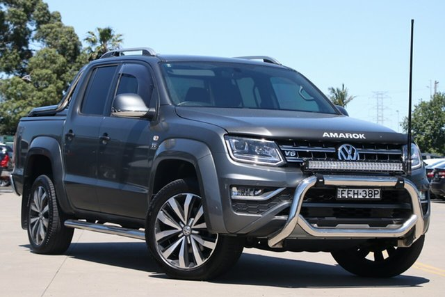 Used Volkswagen Amarok 2H MY19 TDI580 4MOTION Perm Ultimate Chullora, 2018 Volkswagen Amarok 2H MY19 TDI580 4MOTION Perm Ultimate Grey 8 Speed Automatic Utility