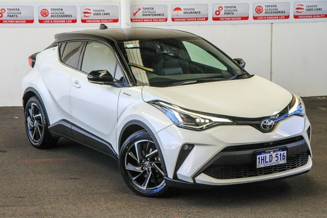 Pre-Owned Toyota C-HR NGX10R Koba S-CVT 2WD Rockingham, 2020 Toyota C-HR NGX10R Koba S-CVT 2WD Crystal Pearl & Black Roof 7 Speed Constant Variable Wagon