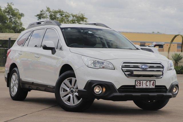 Used Subaru Outback B6A MY16 2.0D CVT AWD Bundamba, 2016 Subaru Outback B6A MY16 2.0D CVT AWD White 7 Speed Constant Variable Wagon