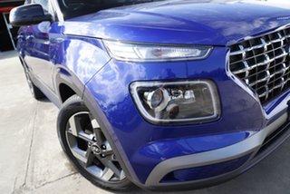 2021 Hyundai Venue Qx.v4 MY22 Elite Intense Blue 6 Speed Automatic Wagon.