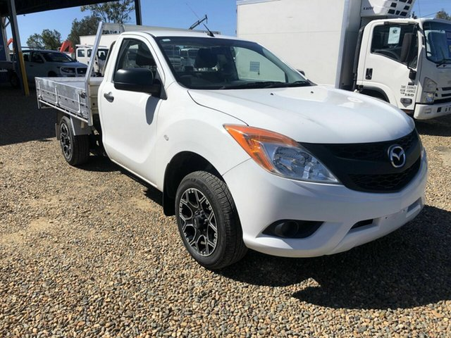 Used Mazda BT-50 Rocklea, 2013 Mazda BT-50 White 6 Speed Manual Cab Chassis