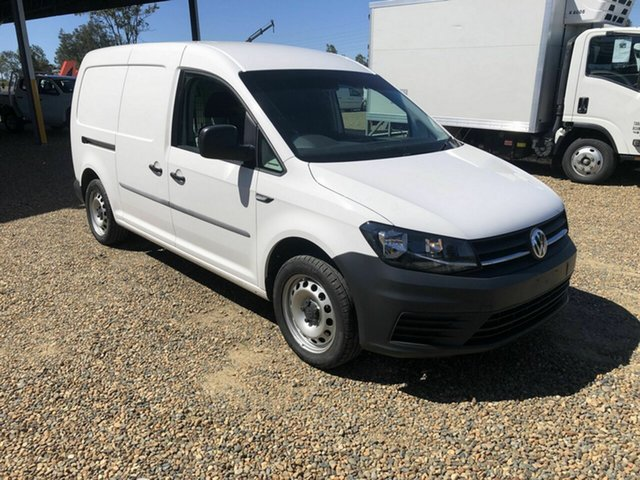 Used Volkswagen Caddy Rocklea, 2017 Volkswagen Caddy MAXI White 7 Speed Sports Automatic Dual Clutch Panel Van
