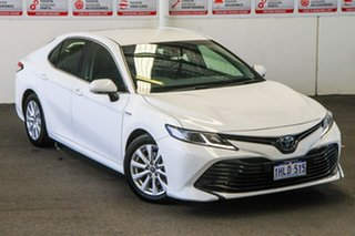 2018 Toyota Camry AXVH71R Ascent (Hybrid) Glacier White Continuous Variable Sedan.