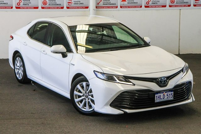 Pre-Owned Toyota Camry AXVH71R Ascent (Hybrid) Rockingham, 2018 Toyota Camry AXVH71R Ascent (Hybrid) Glacier White Continuous Variable Sedan