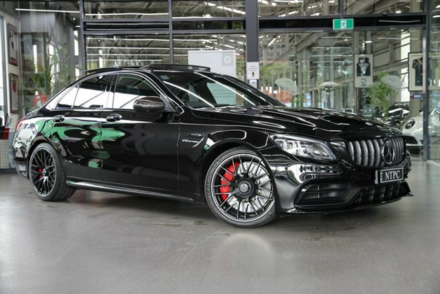 Used Mercedes-Benz C-Class W205 809MY C63 AMG SPEEDSHIFT MCT S North Melbourne, 2019 Mercedes-Benz C-Class W205 809MY C63 AMG SPEEDSHIFT MCT S Black 9 Speed Sports Automatic Sedan
