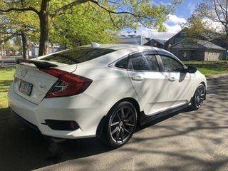 2017 Honda Civic 10th Gen MY16 VTi-L White 1 Speed Constant Variable Sedan.