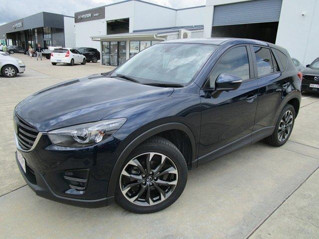 Used Mazda CX-5 KE1022 Akera SKYACTIV-Drive AWD Caboolture, 2015 Mazda CX-5 KE1022 Akera SKYACTIV-Drive AWD Dark Blue 6 Speed Sports Automatic Wagon